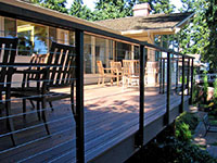 Deck with dining area and seating