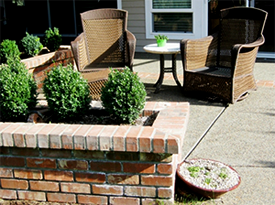 SunPatio by Vanessa Gardner Nagel - small side patio for soaking up the sun